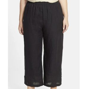 Chalet Plus Size 100% Linen Charcoal Black Trouser